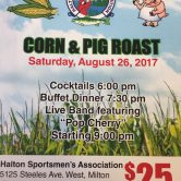 Halton's Sportsmen's Association – Corn & Pig Roast – Open to the Public $25.00 at the Door